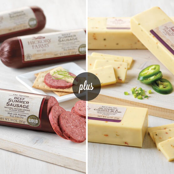 Beef Summer Sausage and Jalapeno & Cheddar Combo