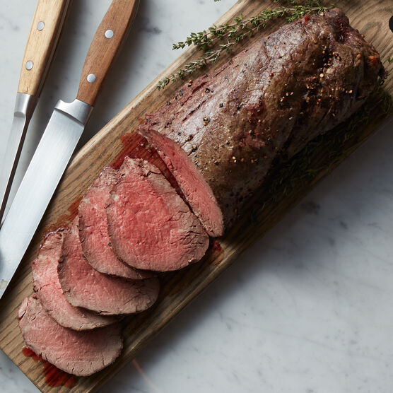Famous for its mild flavor and extreme tenderness, our Beef Tenderloin Roast will be a hit for any occasion.
