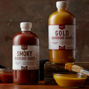 This set comes with South Carolina mustard-style Gold Barbeque Sauce and Memphis-style sweet Smoky Barbeque Sauce, handcrafted by legendary barbeque experts Lillie's Q