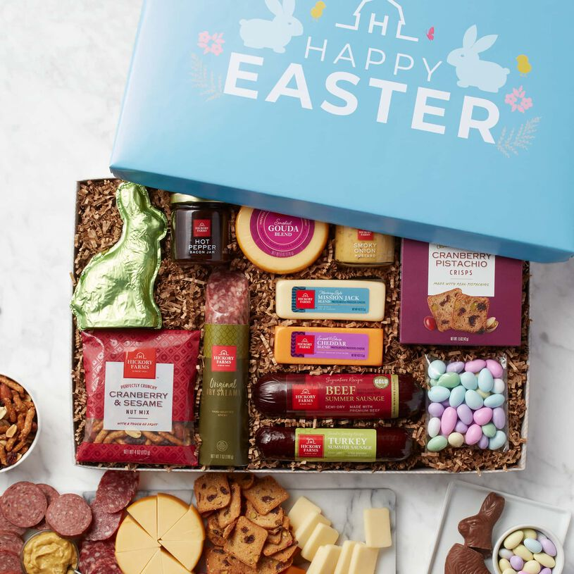 Easter Premium Charcuterie and Sweets Gift Box Interior View