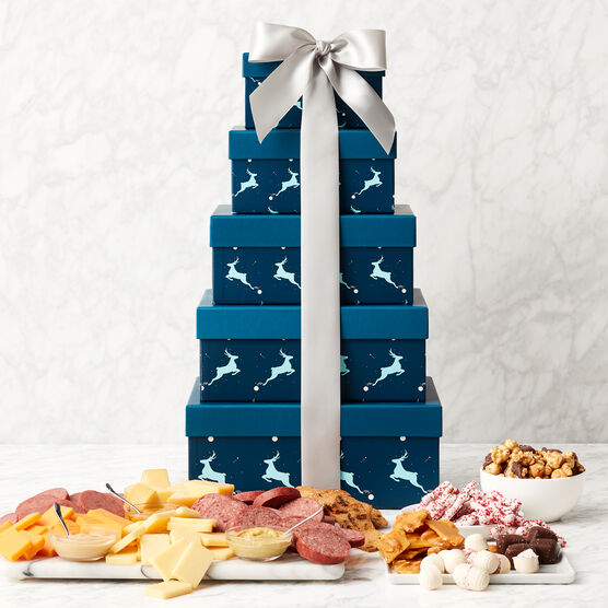 Dashing Deer Gift Tower Stacked