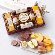 Our #1 gift box includes our most-loved gourmet sausage and cheese, and two delicious mustards