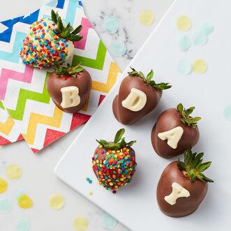 Birthday Chocolate Covered Strawberries