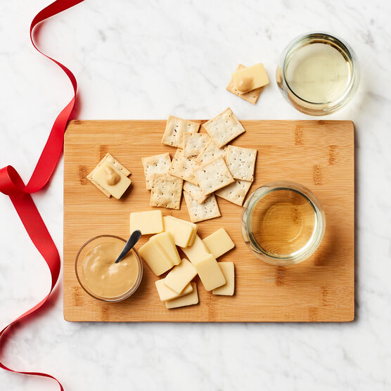 White Wine & Cheese Board Gift Set Charcuterie Spread