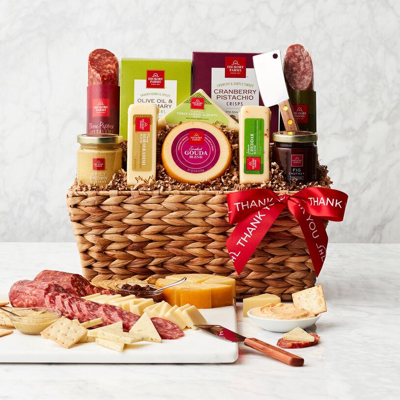Thank You Gourmet Salami & Cheese Gift Basket