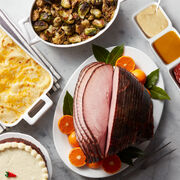 Deluxe Ham Dinner - Stuffing, Scalloped Potatoes, Carrot Cake