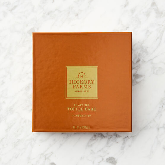Tempting Toffee Bark Orange Box Lid