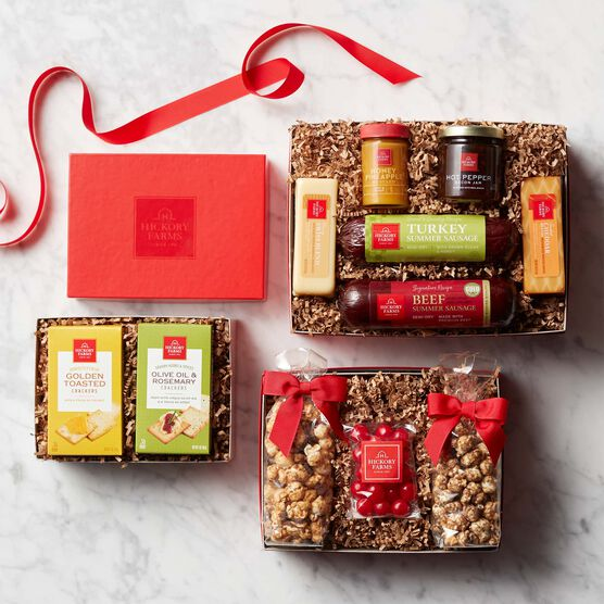 Premium Sweet & Savory Gift Tower - Box Contents