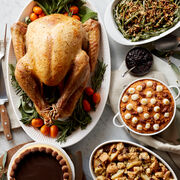 Thanksgiving feast delivered right to your door! Premium Turkey, Apple & Sausage Stuffing, Brown Sugar Sweet Potatoes, Green Bean Casserole, and a Chocolate Pumpkin Cheesecake to end on a sweet note.