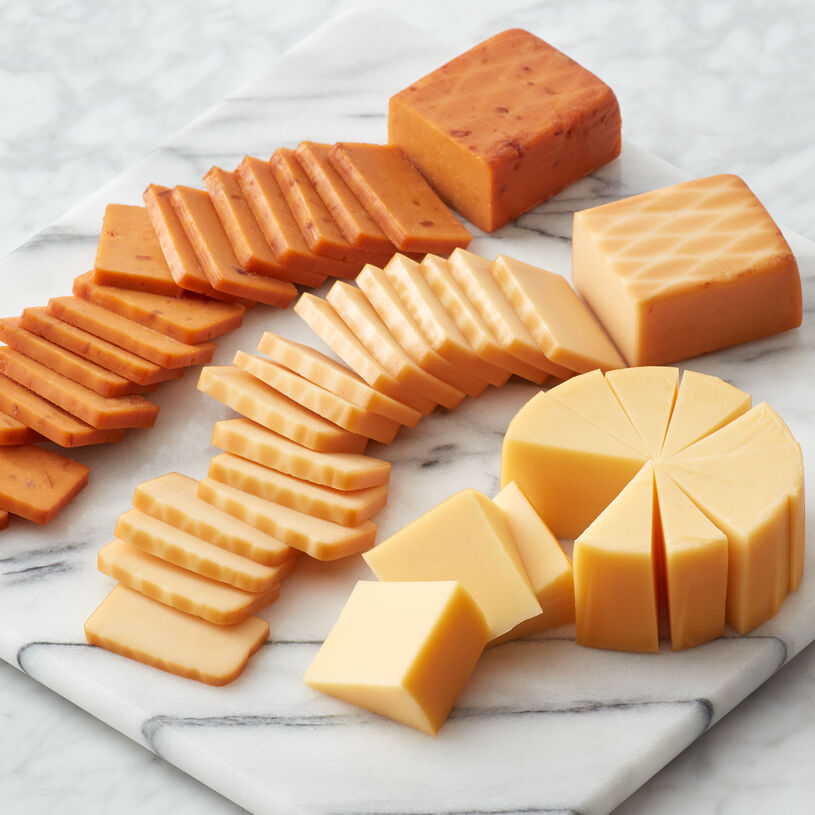 Smoked Cheddar Blend, Smoked Gouda Blend, Bacon & Smoked Cheddar Blend.