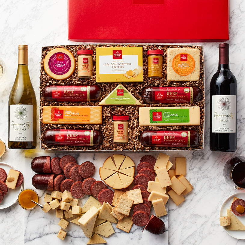 Satisfying Snack & Wine Gift Set