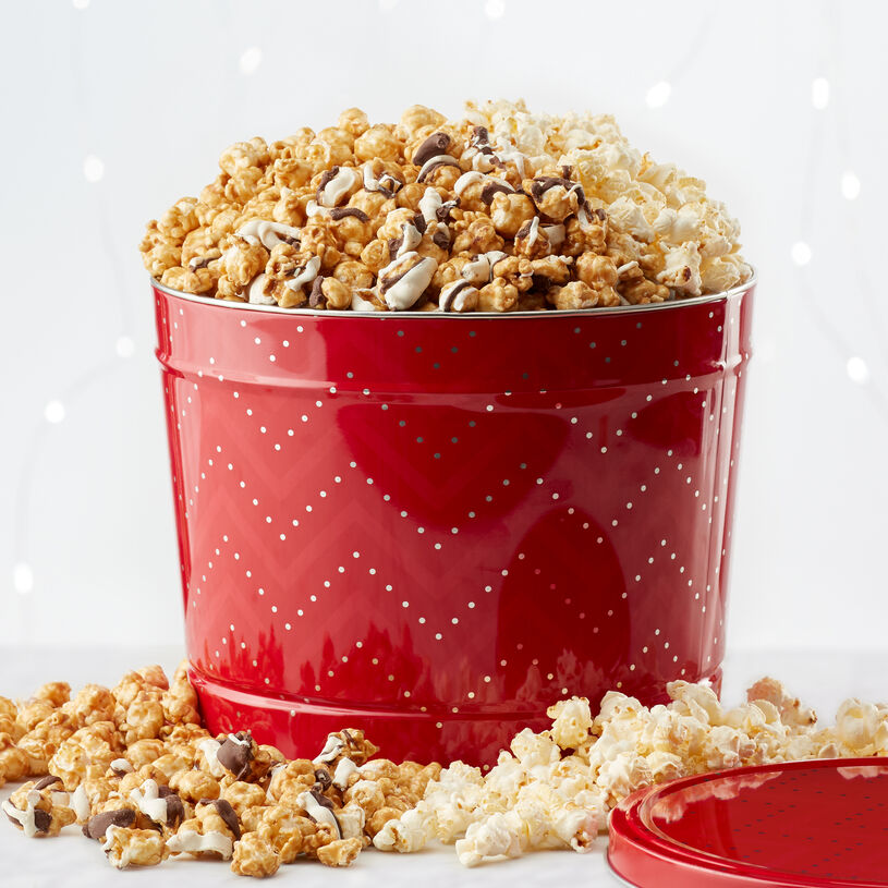 Sweet & Salty Kettle Corn, Premium Caramel Corn, and Black & White Caramel Corn.