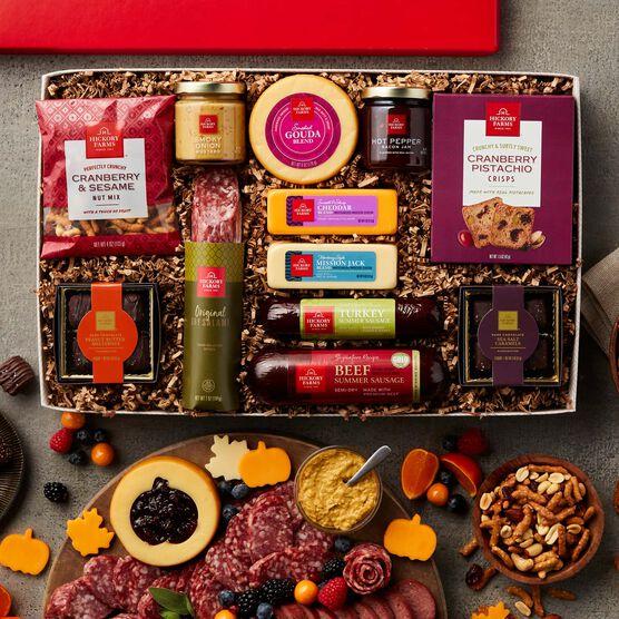 Premium Charcuterie & Chocolate Gift Box - Charcuterie Spread