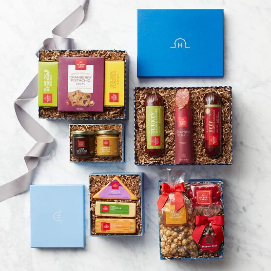 Brilliant Blue Gift Tower Box Contents