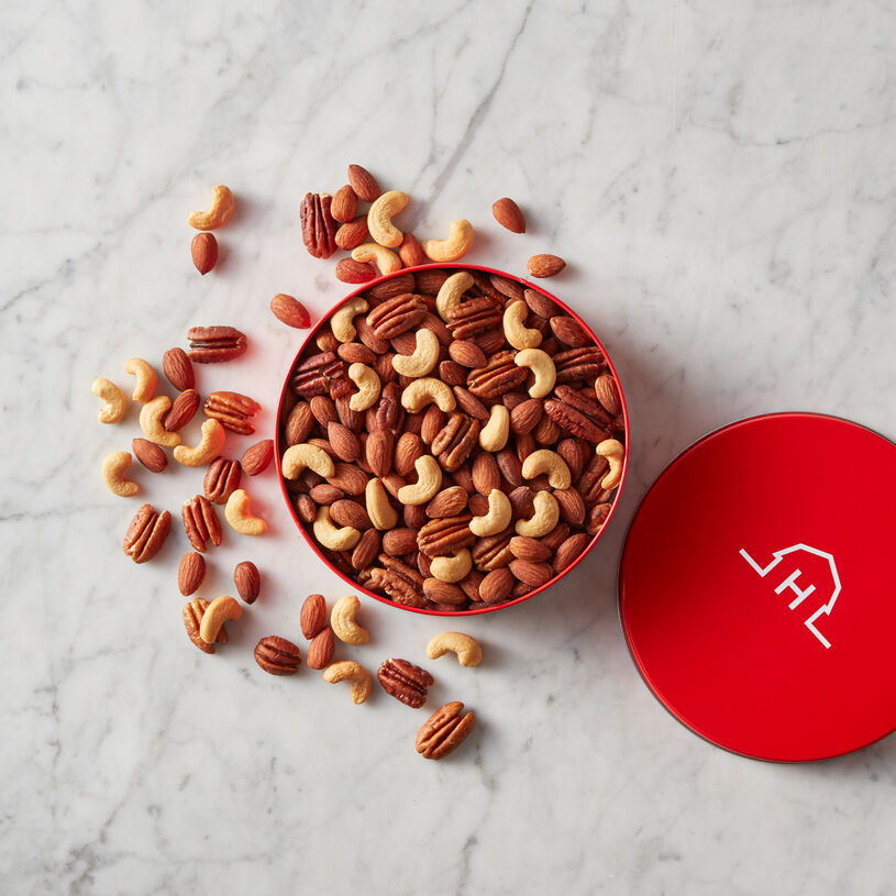 A classic assortment of premium cashews, almonds, and pecans that are all roasted and then delicately sprinkled with sea salt.