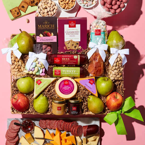 Alternate view of Spring Grand Fruit & Snack Gift Basket