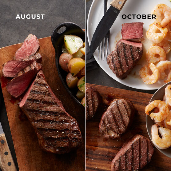 Alternate View of Grand Steakhouse Favorites - 6 Month Plan - Steaks