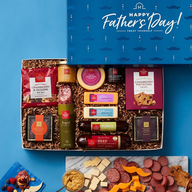 Father's Day Charcuterie & Chocolate Gift Box - Dark Background