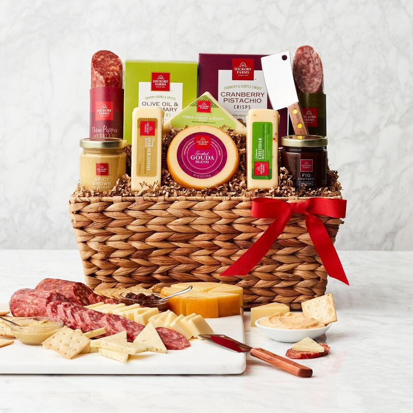 Gourmet Salami & Cheese Gift Basket