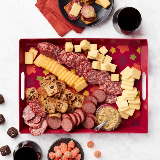 Autumn Entertaining Gift Set with Wine Charcuterie with Tray