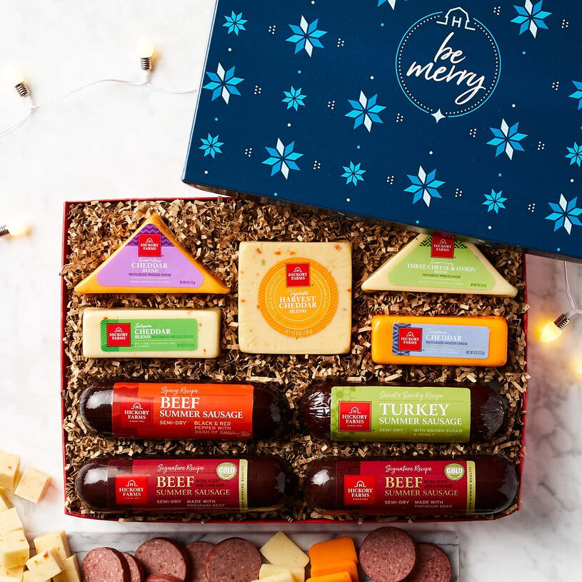 Be Merry Cheese & Sausage Lover's Gift Box