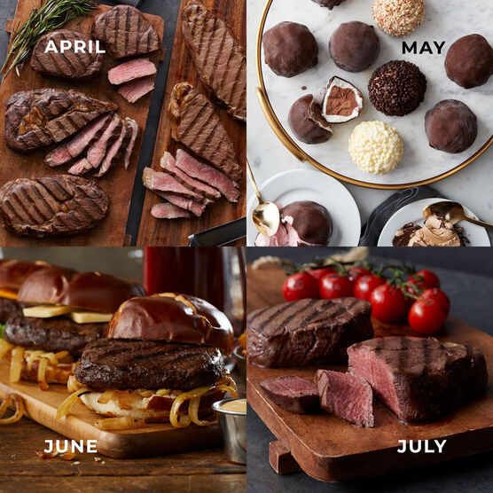 Alternate View of Grand Steakhouse Favorites - 12 Month Plan - Steak, Burgers, Ice Cream Truffles