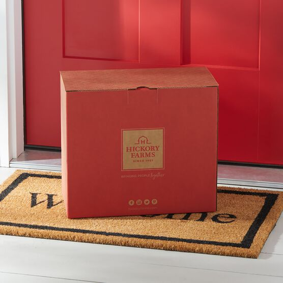 Red Hickory Farms Shipping Box
