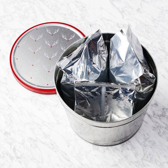 Merry Reindeer Popcorn Tin Inside Tin