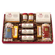 Meat & Sweet Sampler includes sausage, cheese, mints, nuts, and crackers