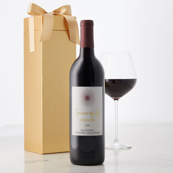 Generosity Cellars California Cabernet Sauvignon Red Wine Gift