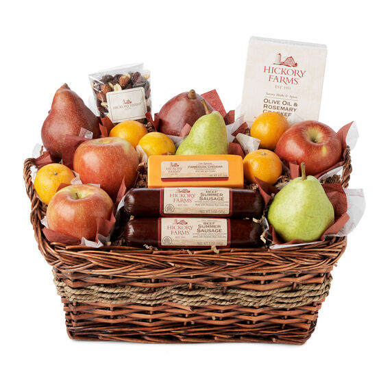 hickory farms orchard s bounty gift basket hickory farms
