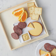 Flower Shaped Dried Fruit Tray with re-usable tray