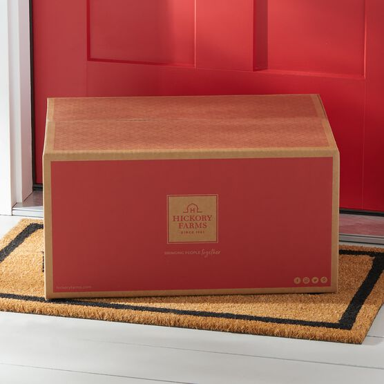 Red Hickory Farms Branded Shipping Box