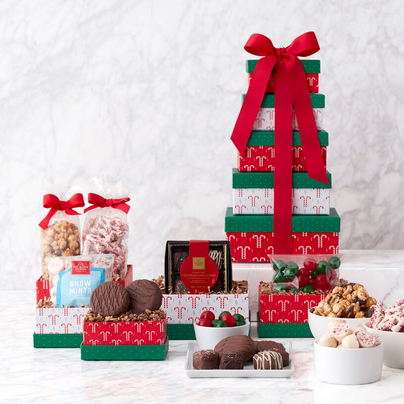 Holiday Sweets Gift Tower