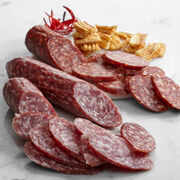 Our Reserve collection features salami made with hand-selected cuts of pork, old world spices, and aged for over 21 days.