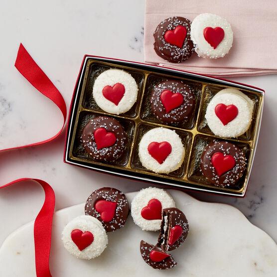 Sweetheart Sandwich Chocolate Cookies