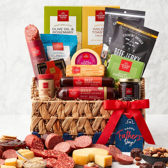 Deluxe Father's Day Gift Basket- White Background