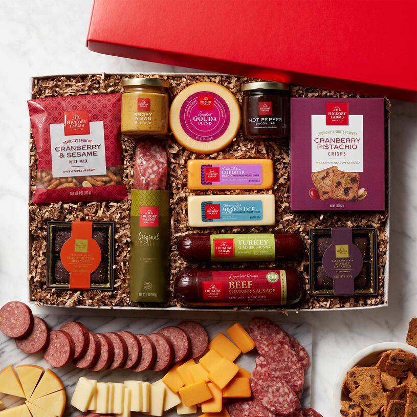 Premium Charcuterie & Chocolate Gift Box - Lid View