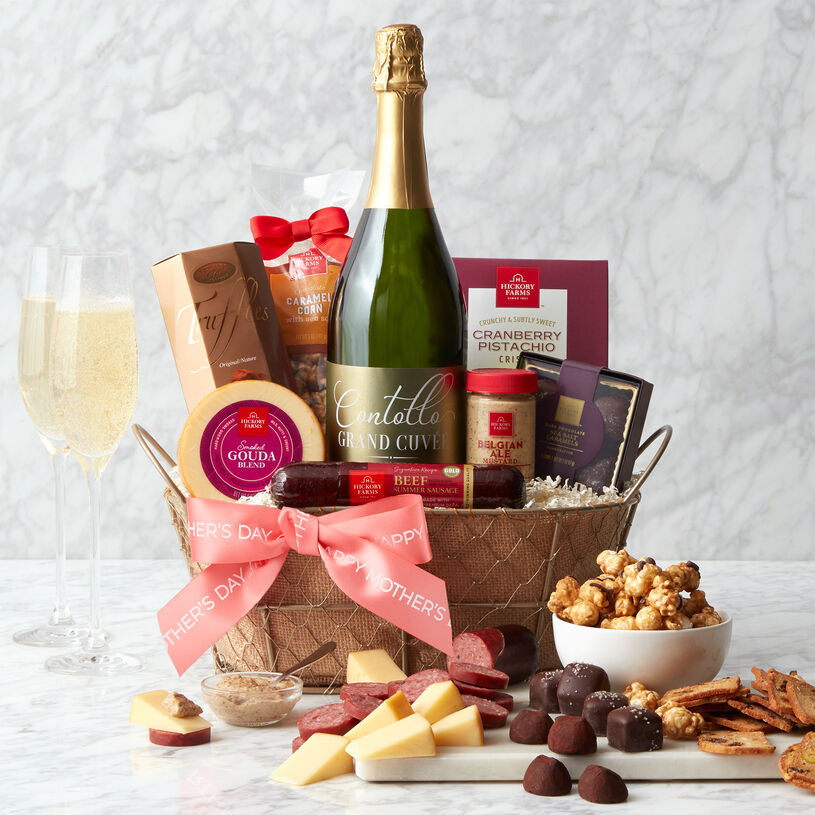 Mother's Day Sparkling Wine Gift Basket