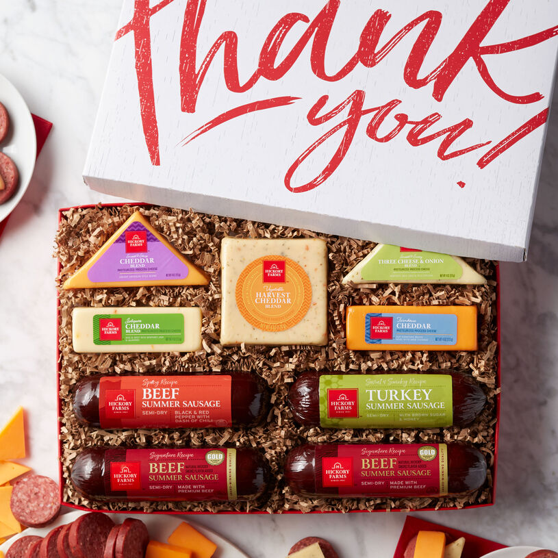 Show your appreciation by sending a gift box filled with plenty of savory flavors to share!