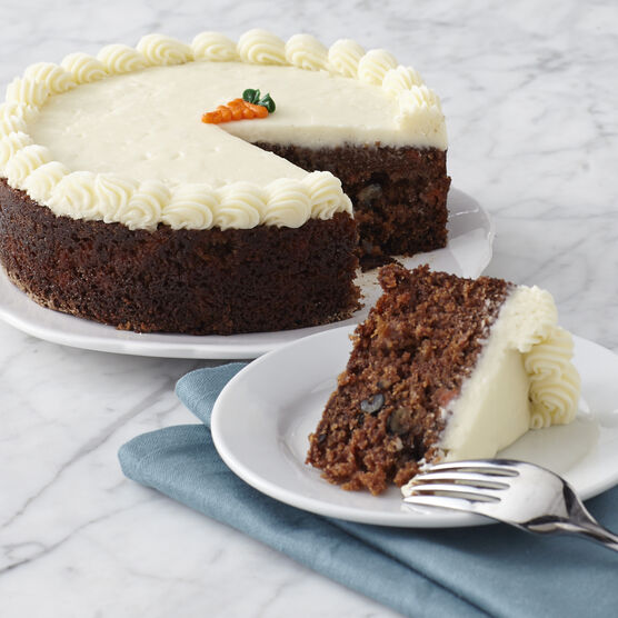 Sweet and nutty carrot cake