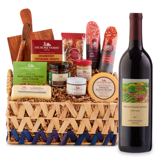 This gift has everything you need to create a beautiful meat and cheese board, just add wine glasses!