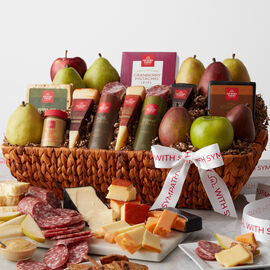 Truffle and Original Dry Salami, Apple Smoked Cheddar, Smoked Garlic Cheddar, Triple Crème, 3-Year Aged Cheddar, and Smoked Pepper Jack all pair perfectly with our famous Sweet Hot Mustard and sweet and crunchy Cranberry Pistachio Crisps.