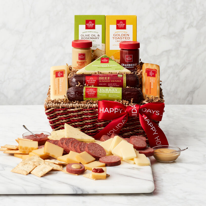Happy Holidays Signature Flavors Gift Basket