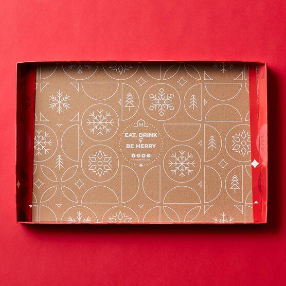 Season's Eatings Charcuterie & Chocolate Gift Box Lid Interior