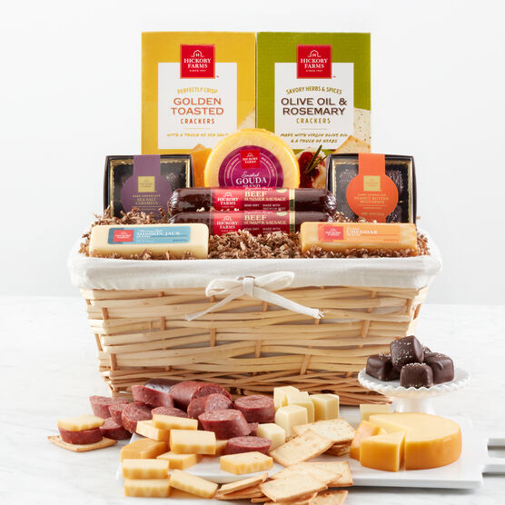 4346ac4b2751 Hickory Farms Favorite Flavors Gift Basket