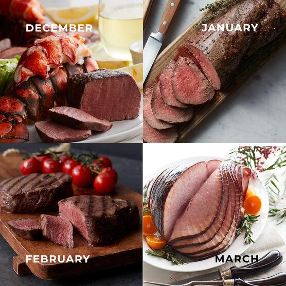Alternate View of Grand Steakhouse Favorites - 12 Month Plan - Steak, Tenderloin, Lobster, Ham
