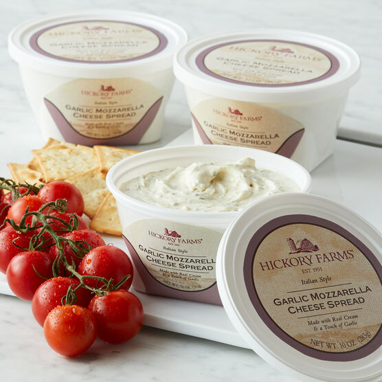 Experience the aromas and flavors of real garlic combined with the mildness of mozzarella in this light and creamy spread.