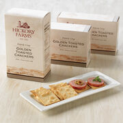 golden toasted crackers - 3 pack