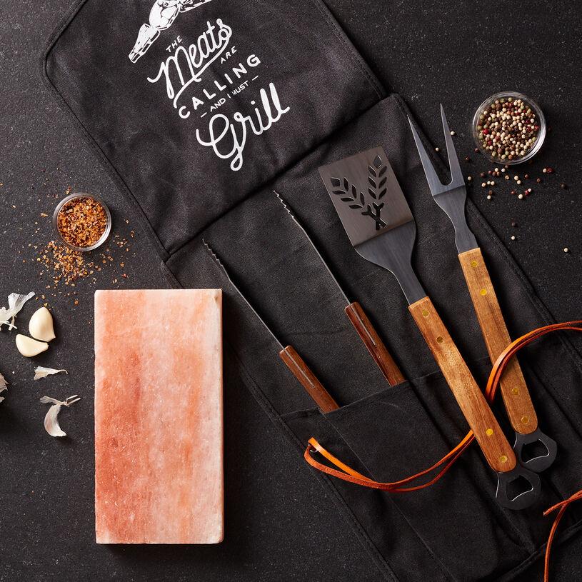 Salt Block and Grill Tool Set